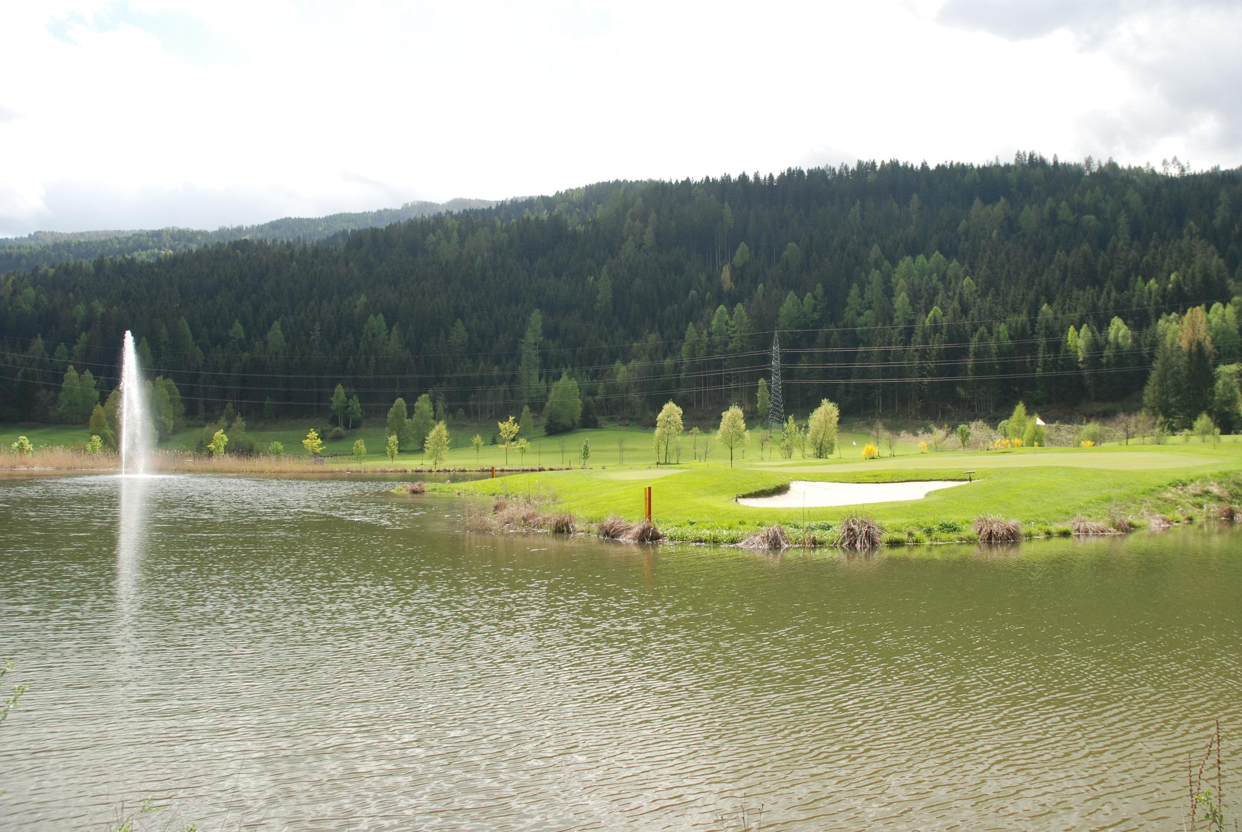 Golf hole at St Lorenzen