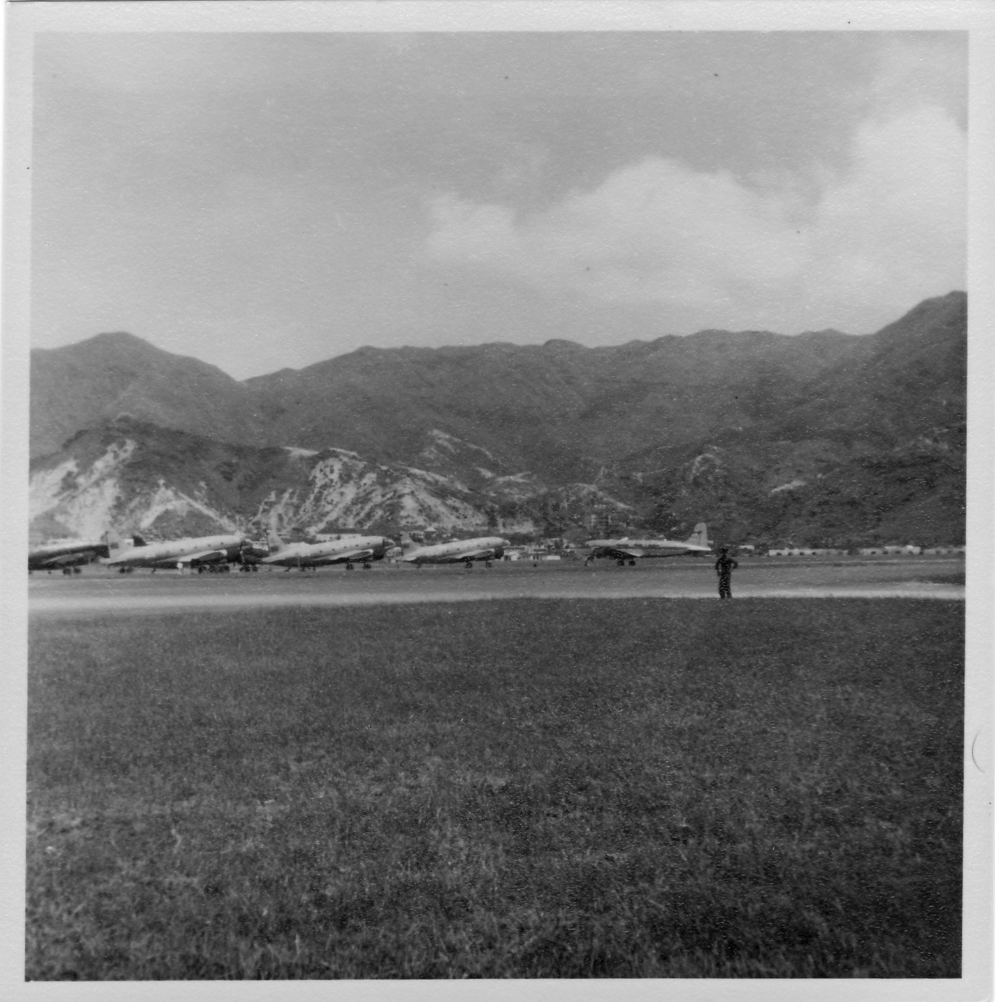 Disputed planes grounded at Kai Tak, 1950