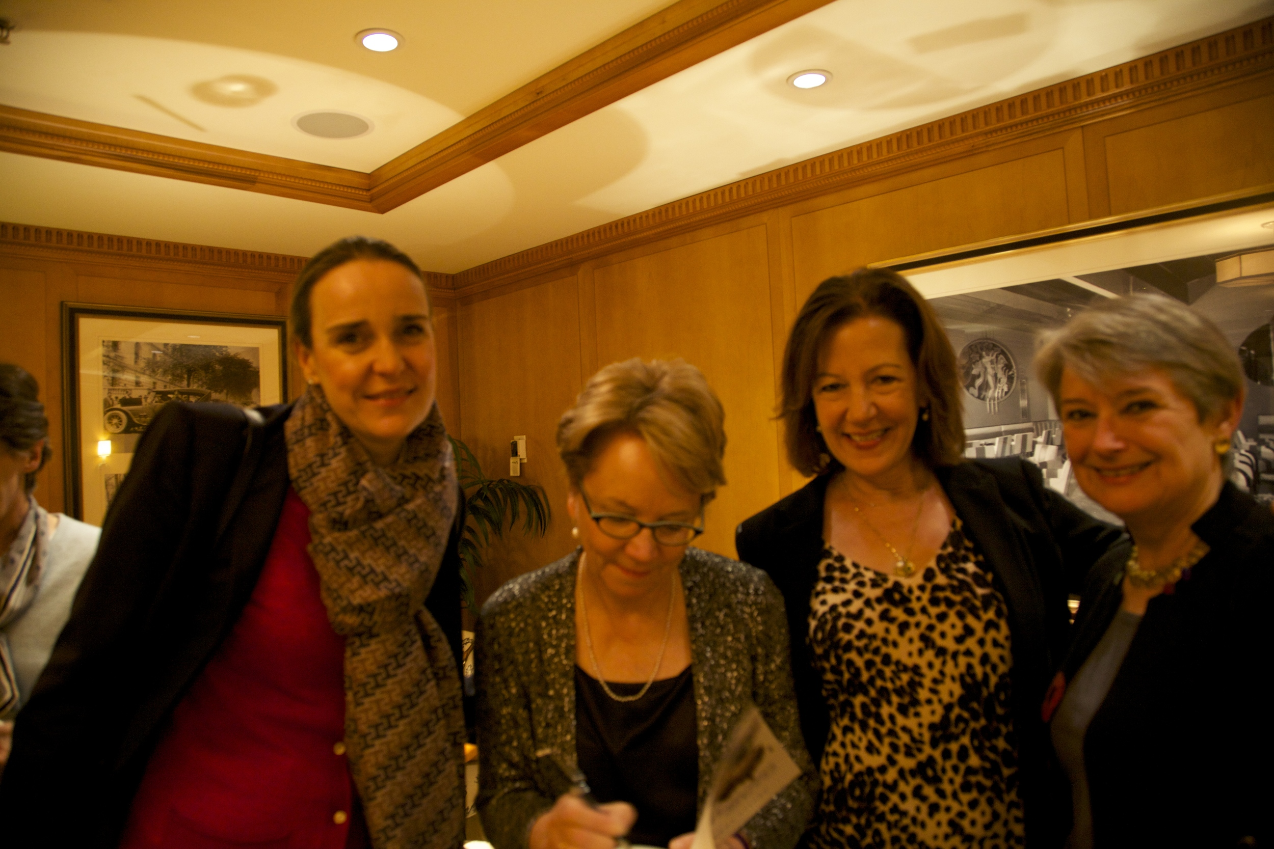 As well as Georgetown book group friends, Cecilie, Marianne and Andrea.
