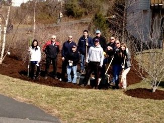 Eager to get started on this important work, Potomac Conservancy and HLI members spent a brisk day in March repairing and maintaining a stormwater management site in Sterling, VA.