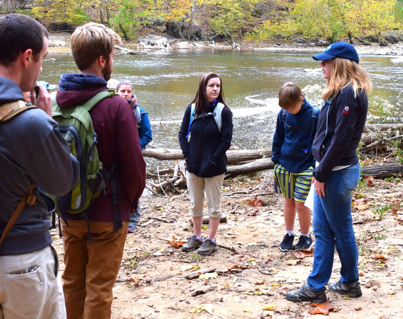 Potomac river hikers