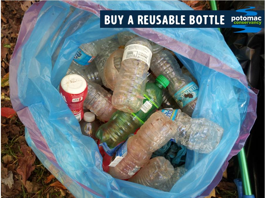 water bottle pollution potomac river