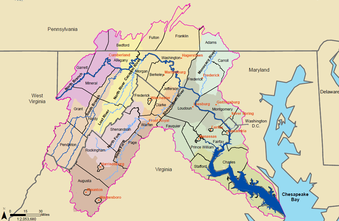 Potomac River Watershed and Sub-watersheds