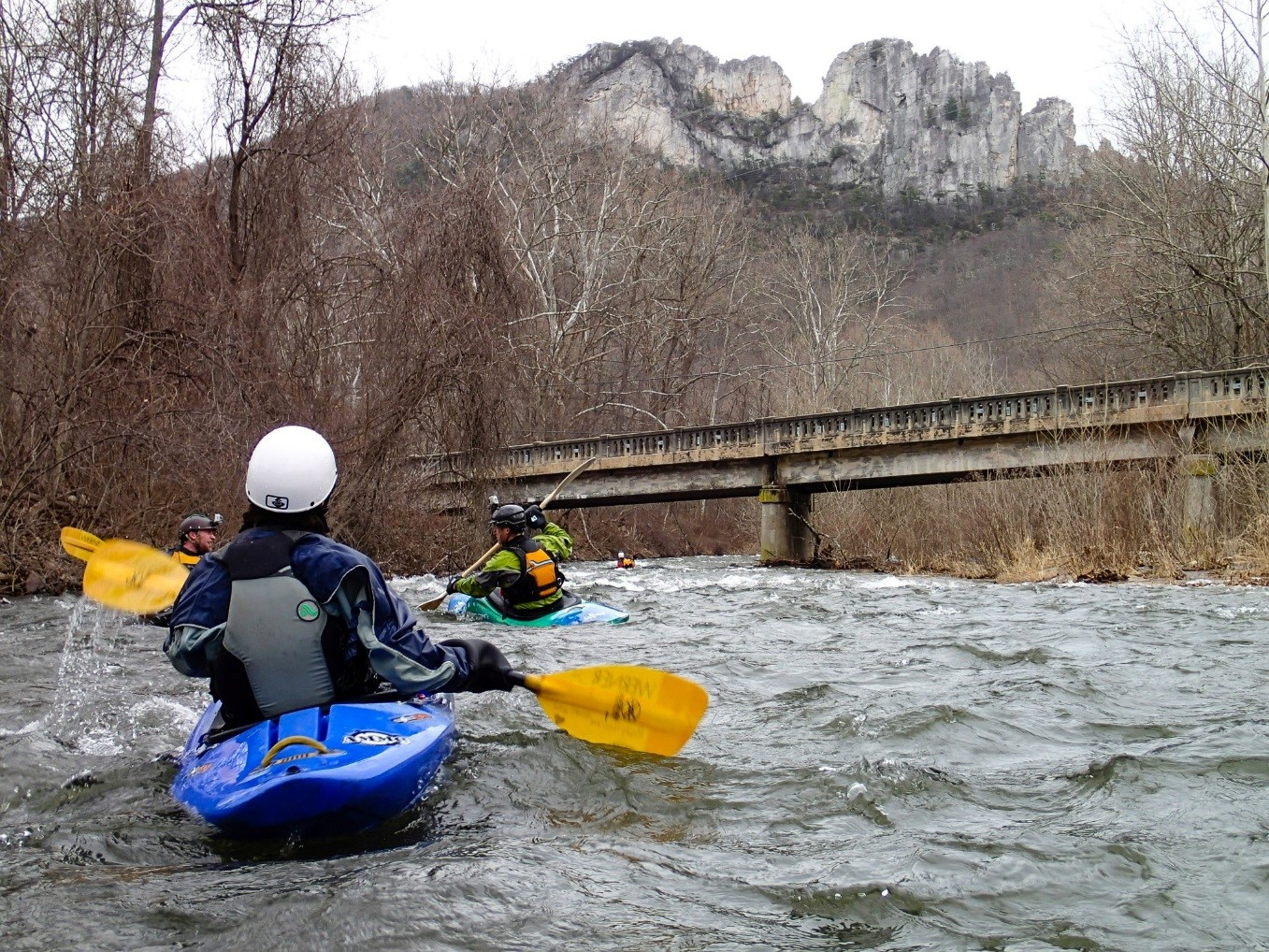 Seneca creek & Seneca rocks, Pendleton County, West Virginia. Dave Kersey, 2015.