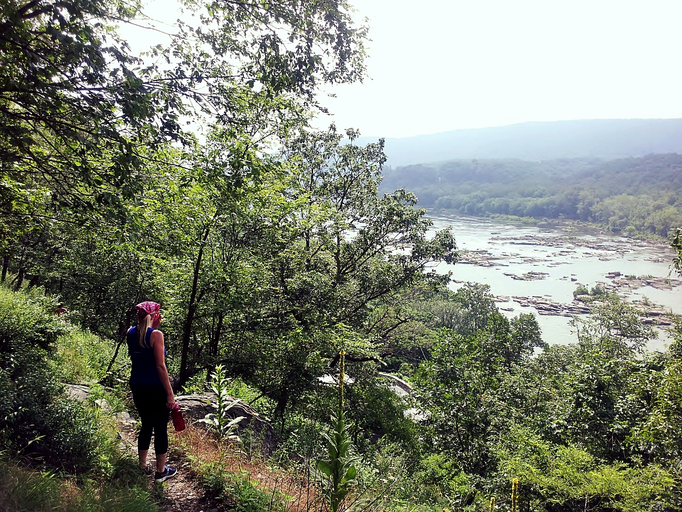 Hiking along the Potomac River, Maryland Heights, C&O Canal National Historical Park. Tracy Lind, 2016.