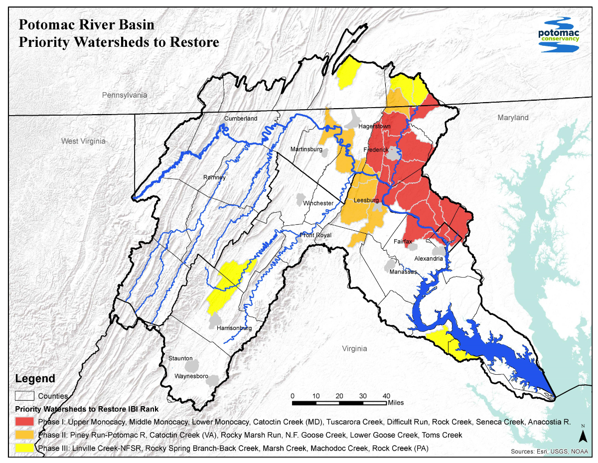 Sub-watersheds targeted for streamside land and river restoration