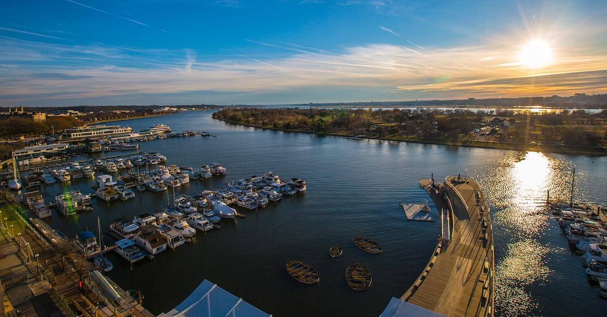 The Wharf is where the city meets the river. Photo courtesy of the  District Wharf.