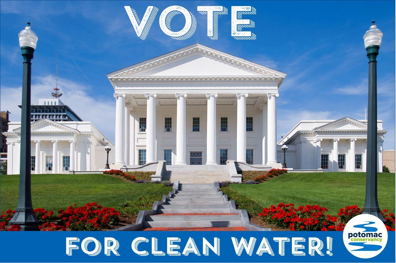 VA Statehouse- VOTE for clean water.JPG