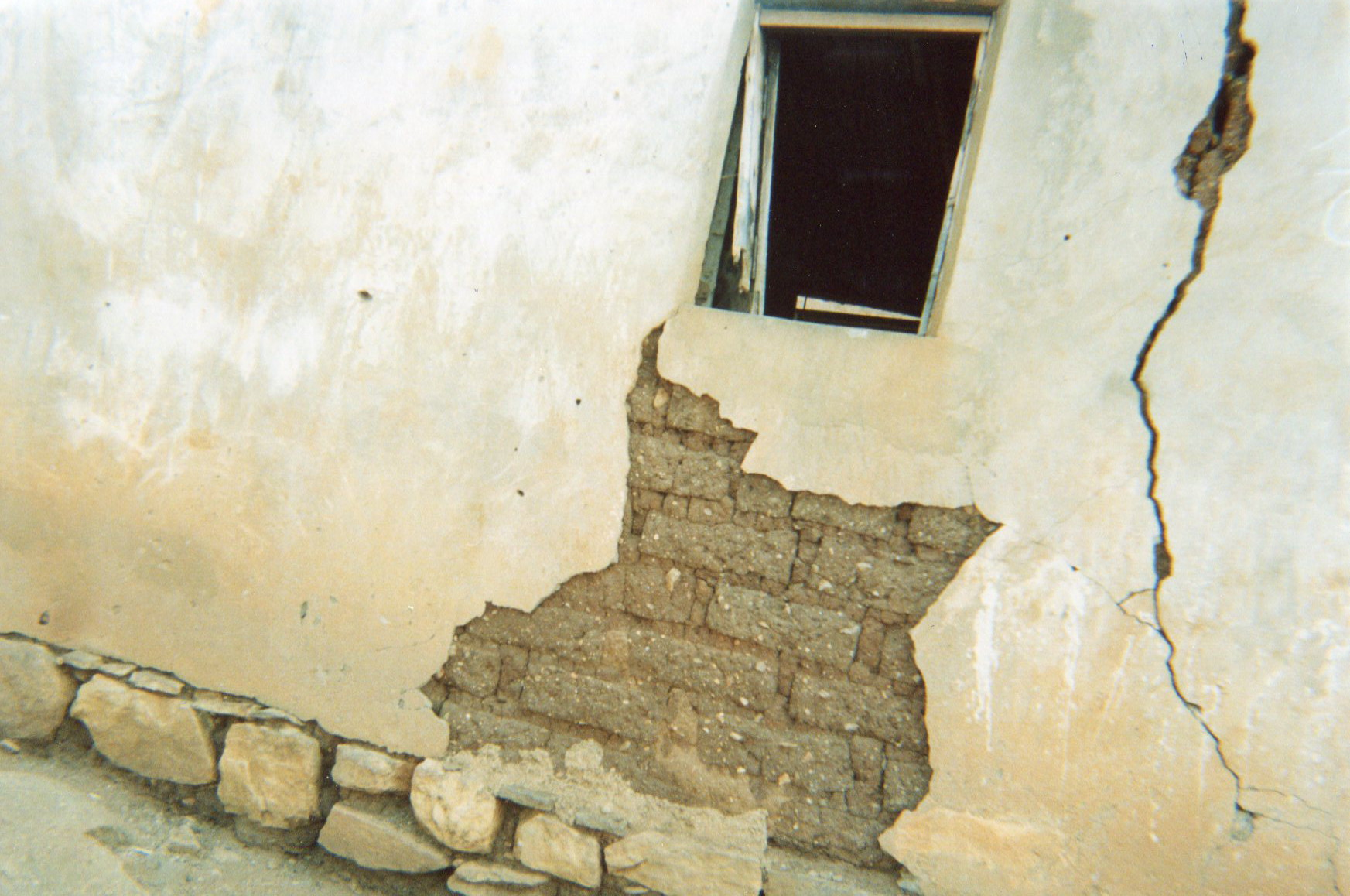 This picture shows the cracks in the walls of my house — this house is a danger for the whole family.