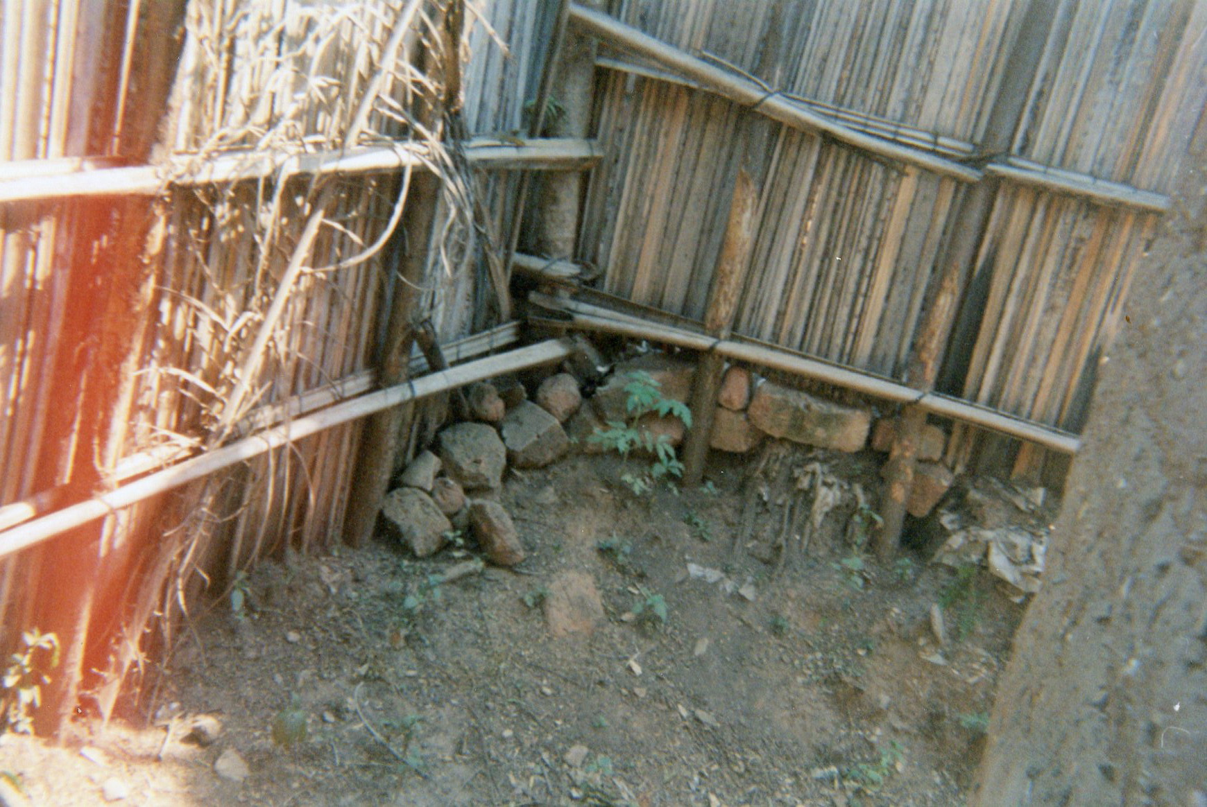 This picture shows the place where my child, Denis, was living when he was under the care of his commander.
