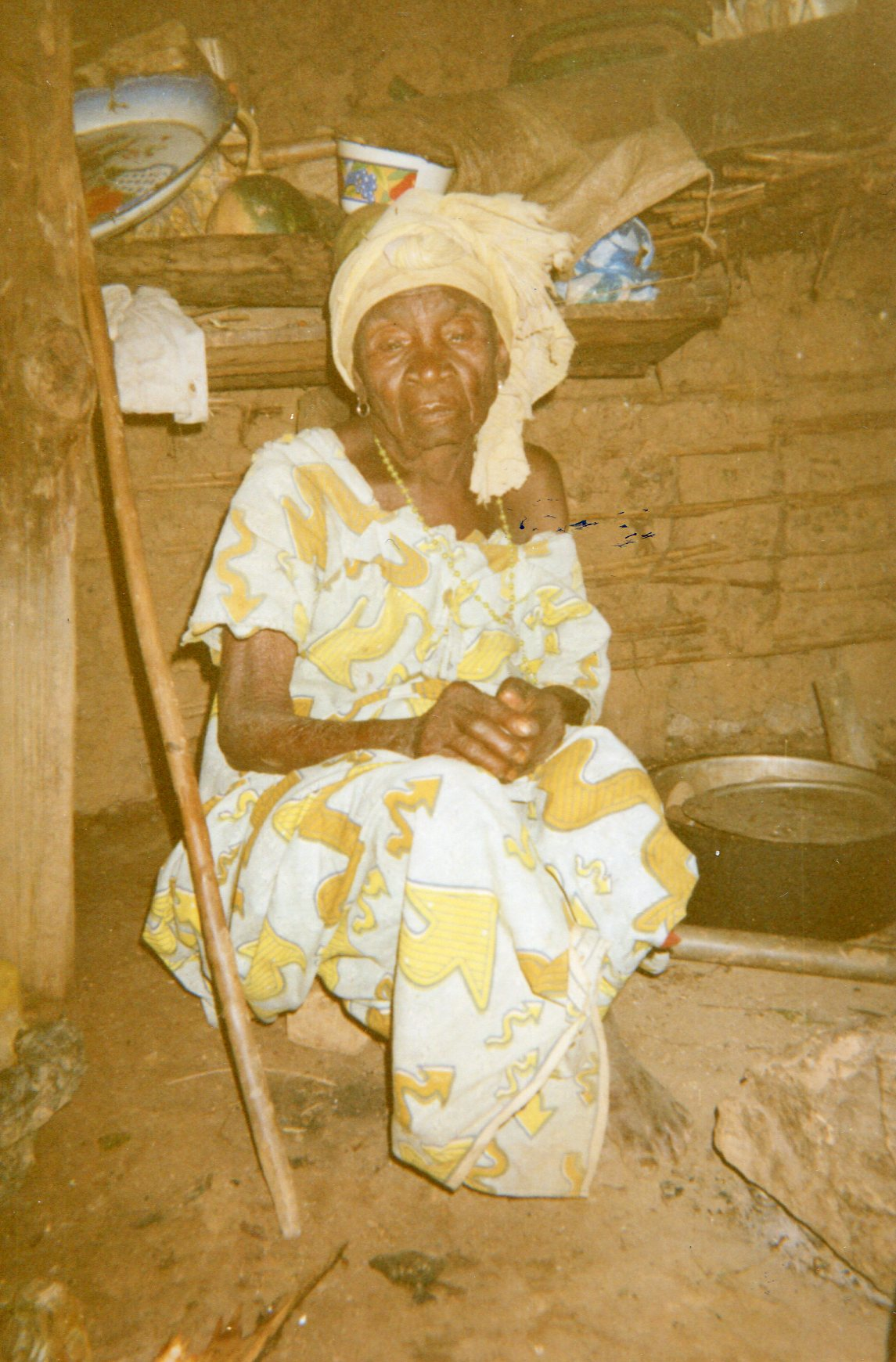 A 95-year-old widow living in her misery.