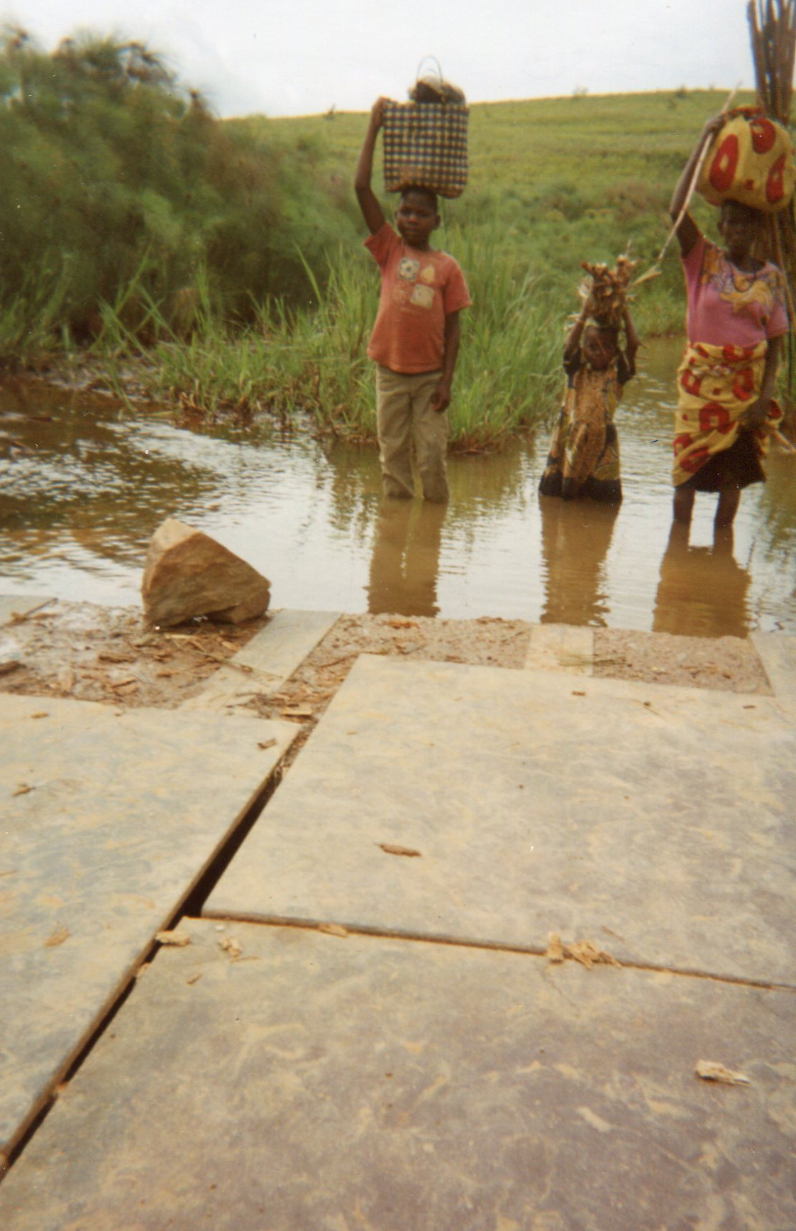 A river crossing that is posing a problem to some women farmers.