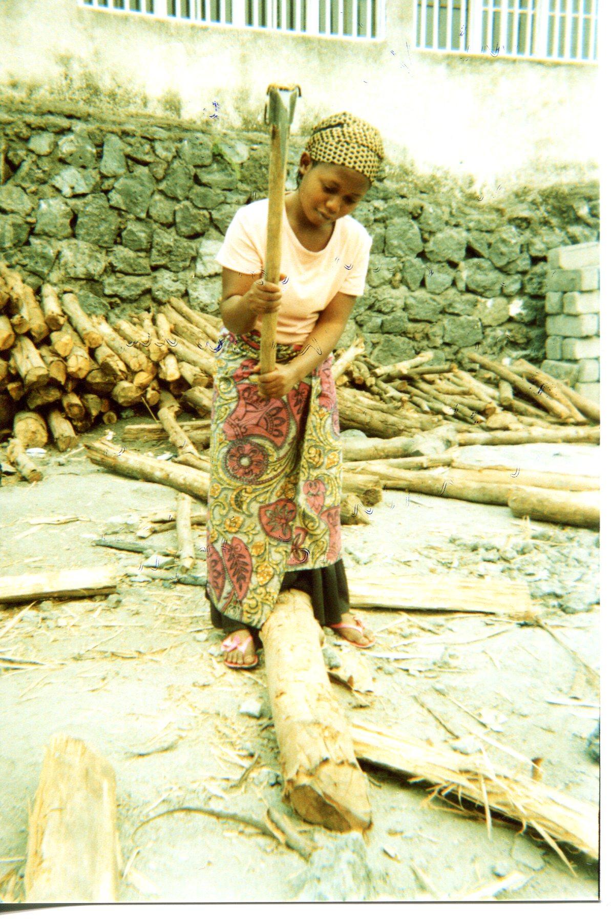 Under punishment still have to make firewood.