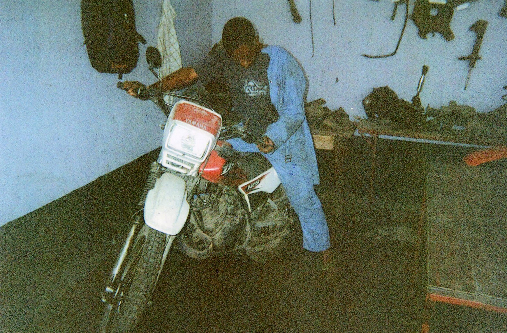 I have repaired a motorbike and trying it to check if it is well fixed.