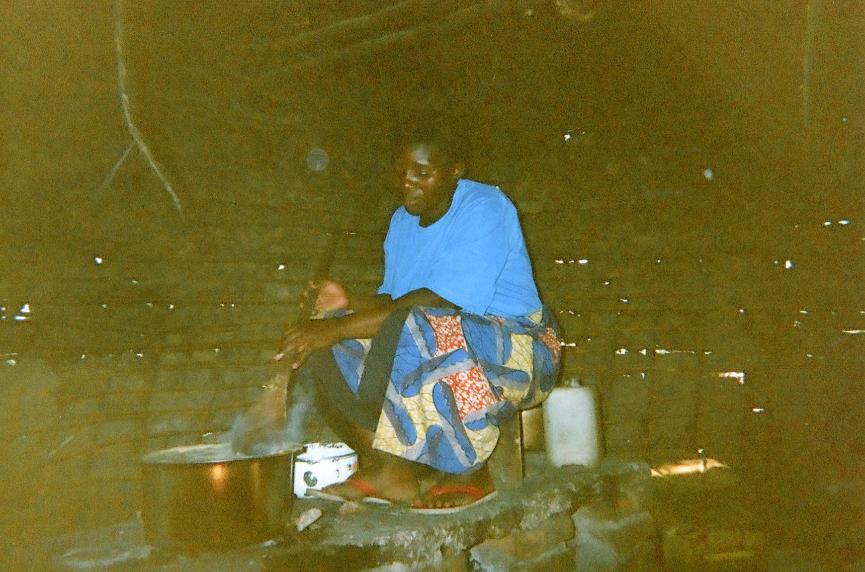 Here I am making fufu — they don't even give me a little bit and I go to bed hungry.