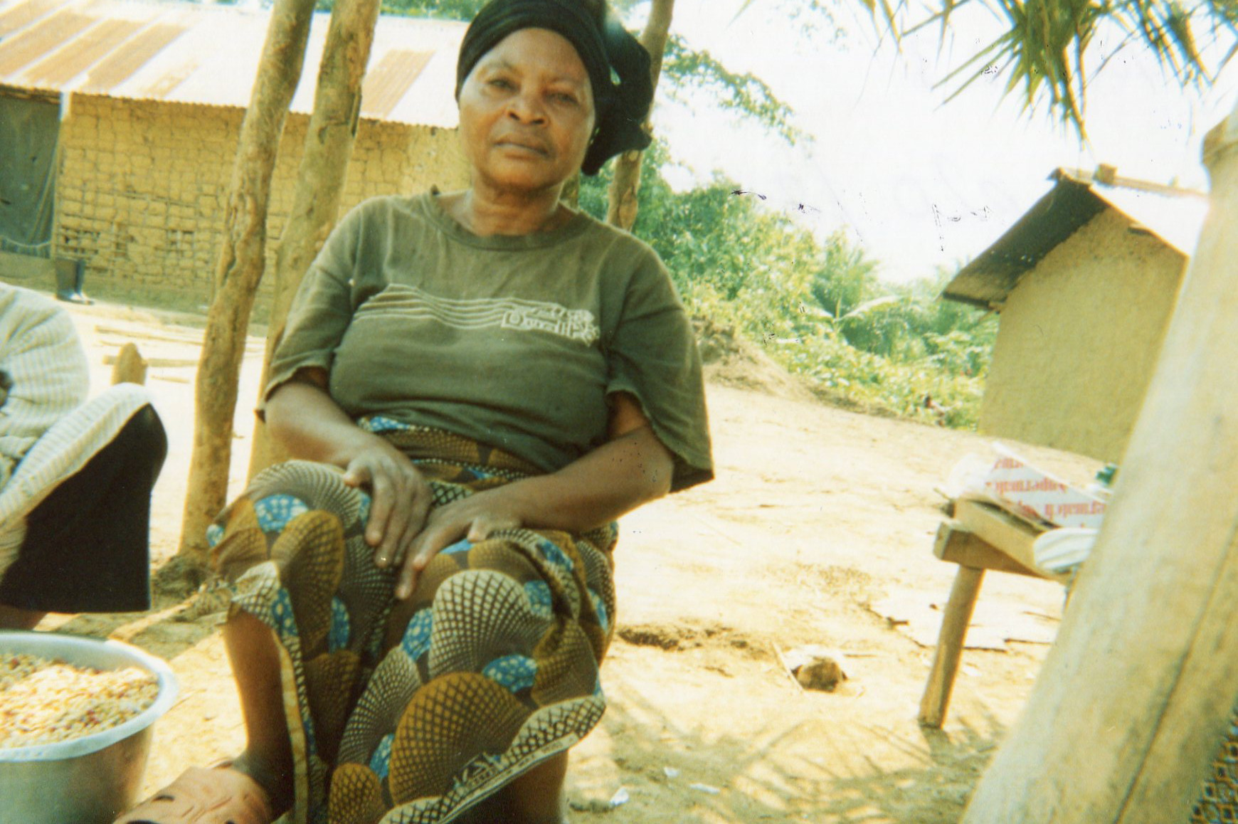 This mom was one of the widows we were with during the war. She remembers her husband who died with the Mai Mai.