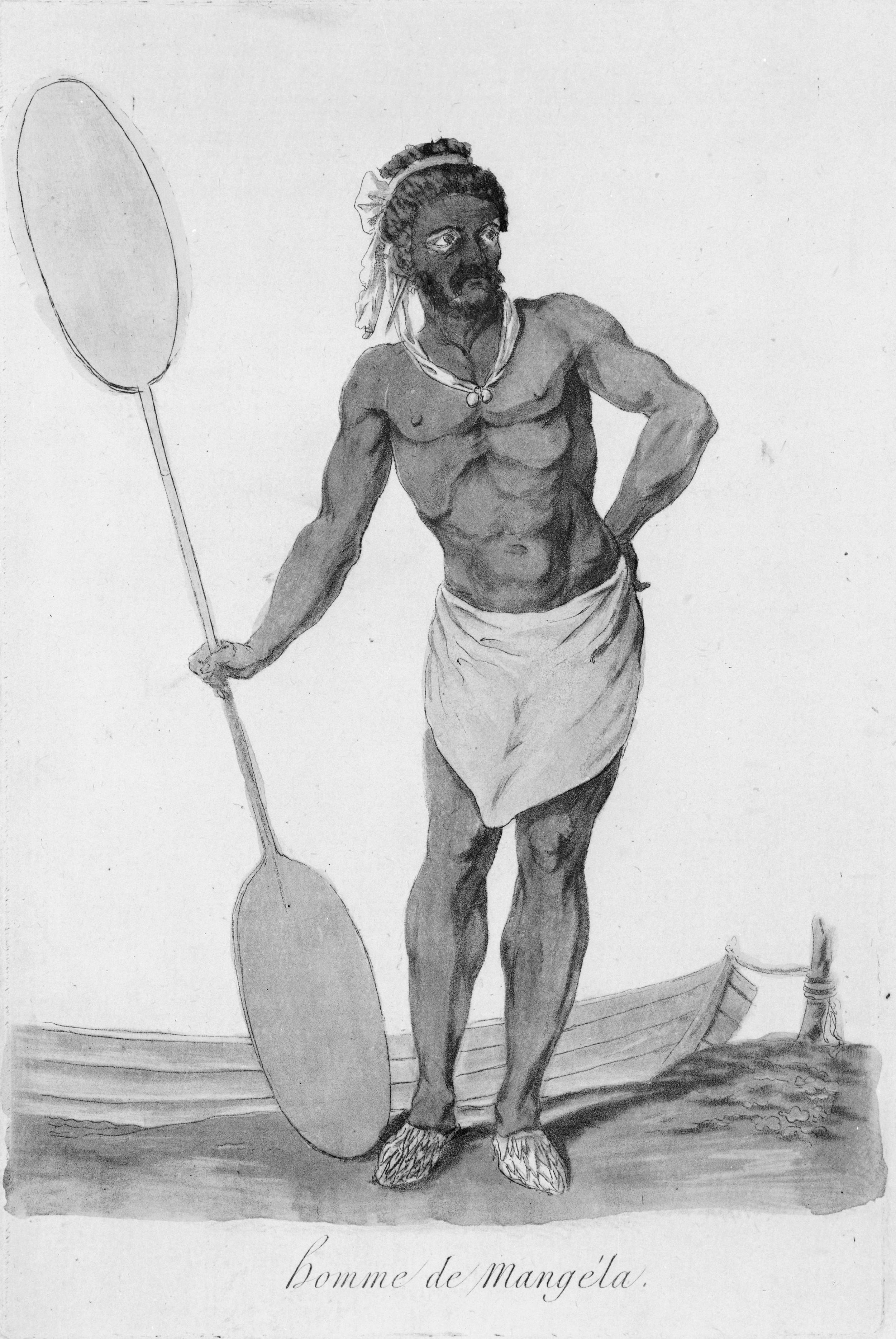 Mangaian Male - 1796 Image Courtesy of Wikipedia