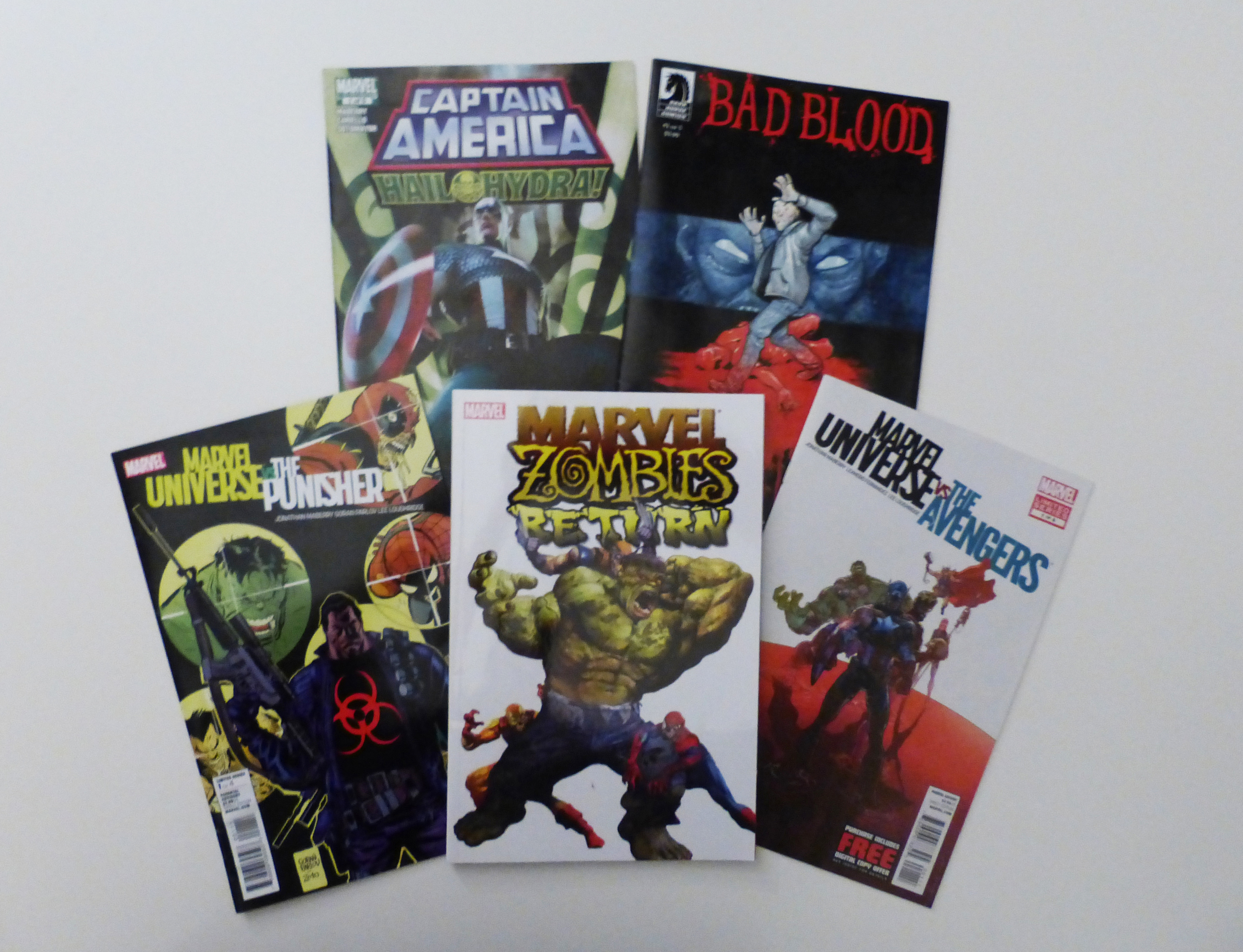A selection of comics by Jonathan Maberry. (Photo by Stephen Lowe)