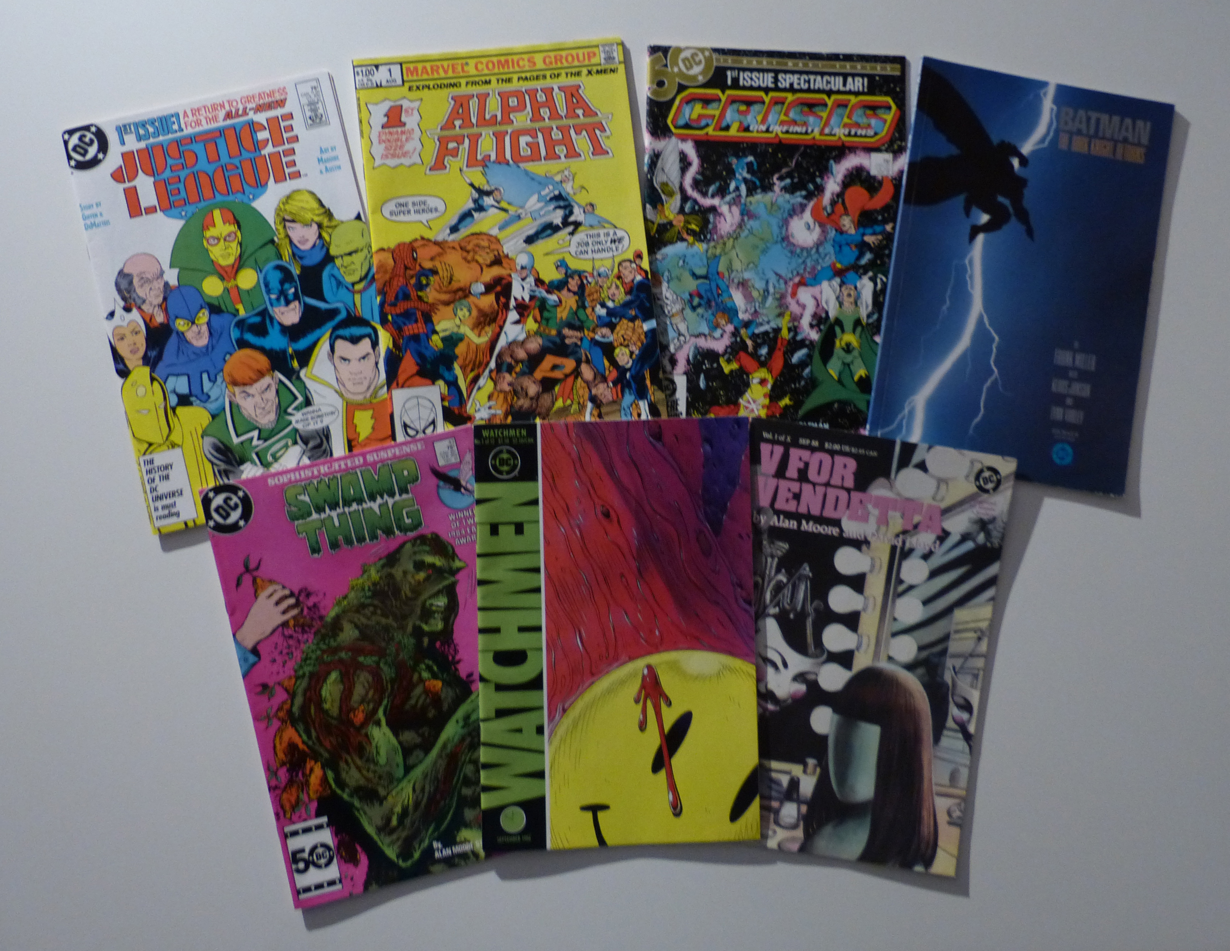 A selection of golden age comics. (Photo by Stephen Lowe)