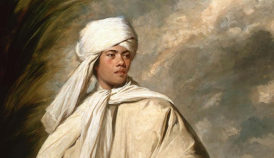 Detail from  Portrait of  Omai , Joshua Reynolds, 1776