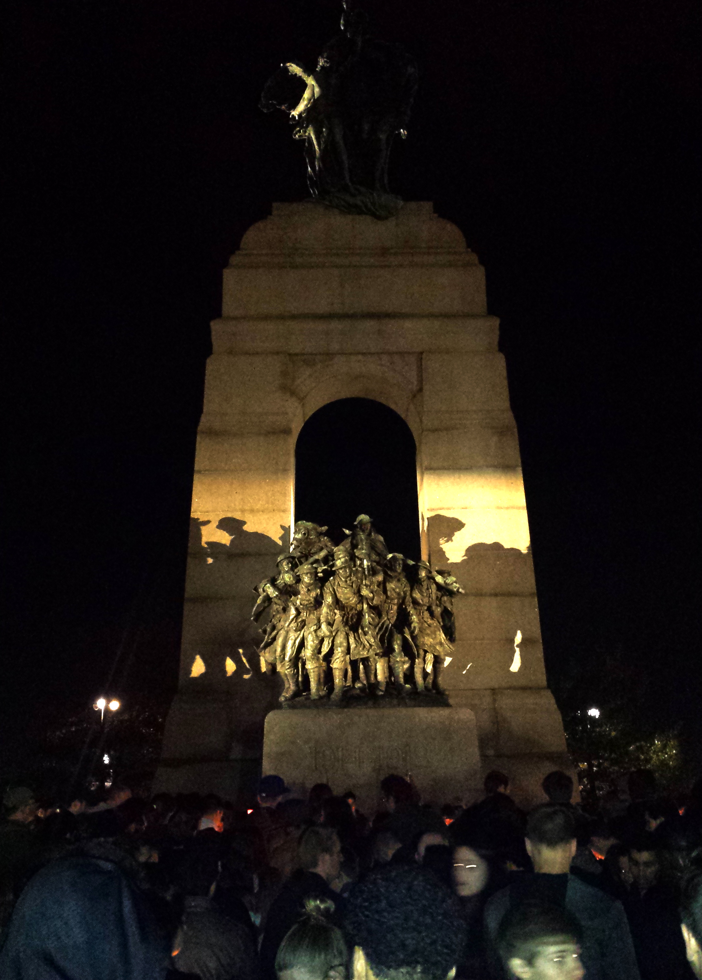 A candlelit vigil for Nathan Cirillo on October 25th