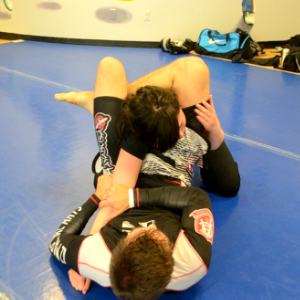 Leg-Triangle Choke from guard.