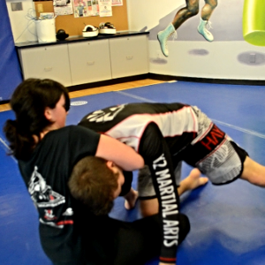 Guillotine Choke into Guard