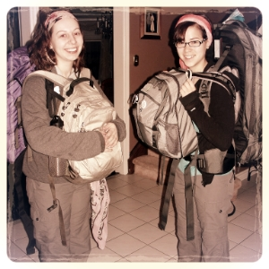 My university roommate and me leaving for pearson airport, where we will board a flight to san salvador, el salvador.