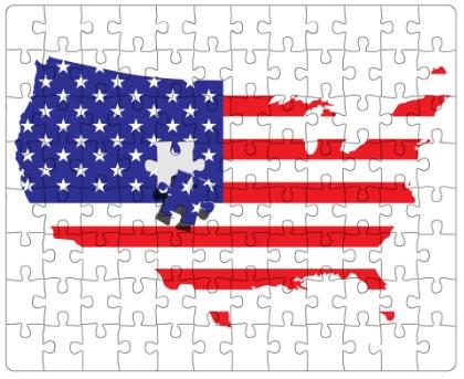 Disunity in US politics.