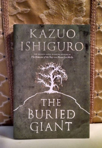 The first edition of  The Buried Giant  (photo taken by blog author).