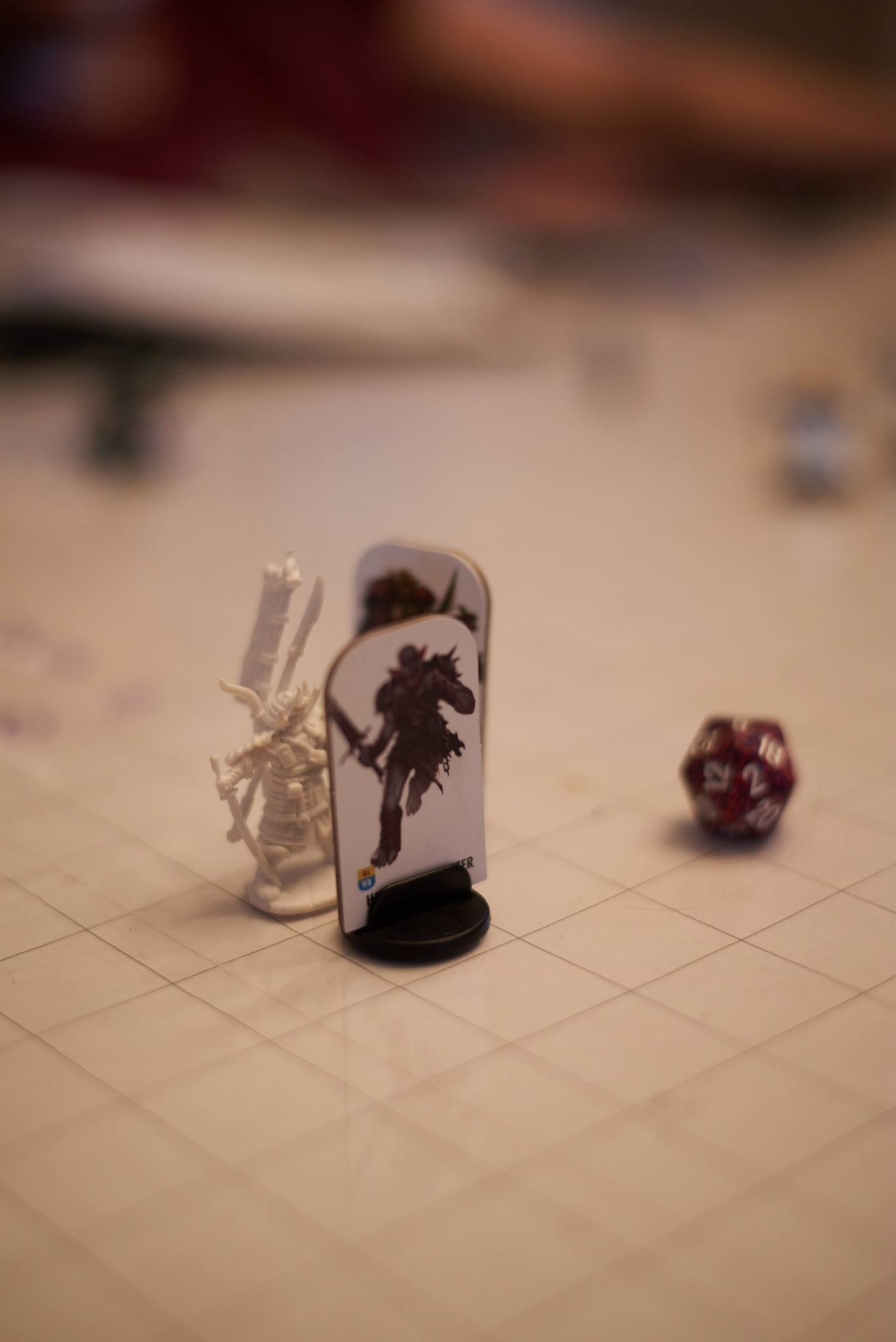 fighter in combat with two orcs. photo provided by kayetan fiett.