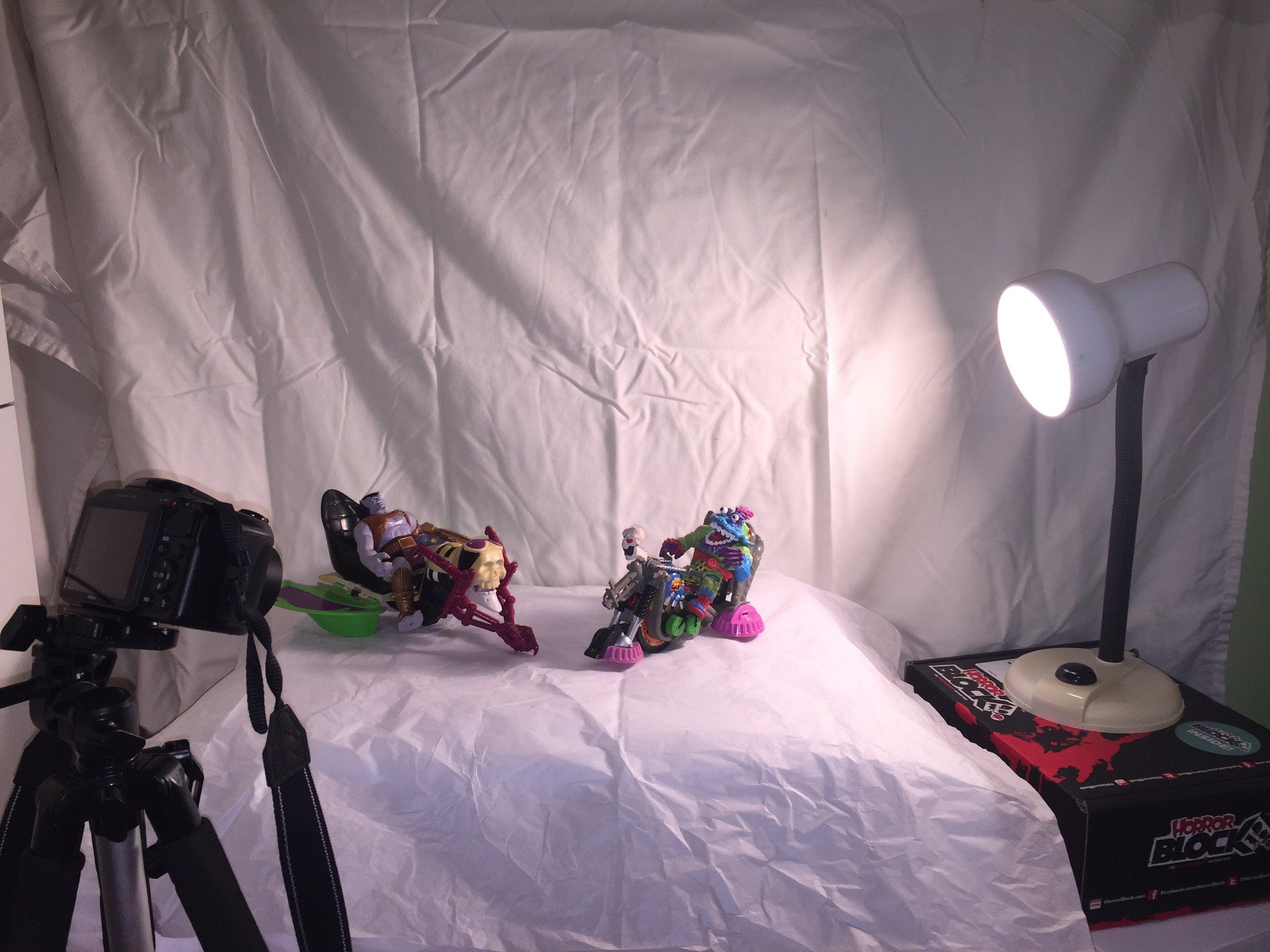 Makeshift animation studio in the corner of my tiny bedroom.