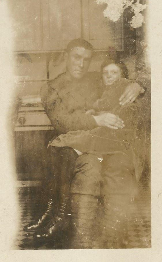 Picture of Fred W. Tobey in London, England. Taken in 1919 shortly before returning to canada.