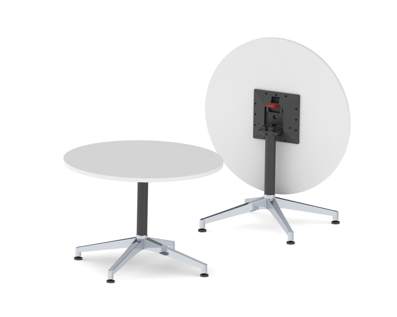 CN-1025.002  U.R. -4 Star - Folding Table - 300 x 300mm Adaptor - Glides - Black Texture - Complete.JPG
