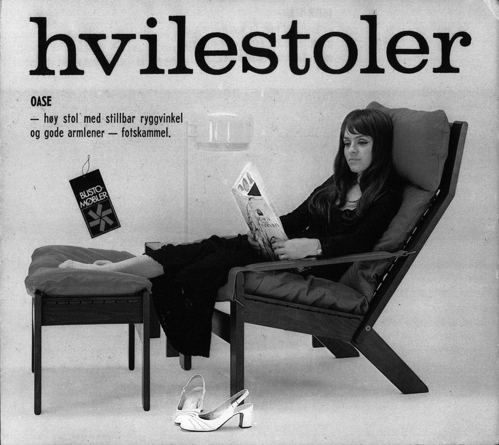 Oase easy chair designed for Stokke, 1967.