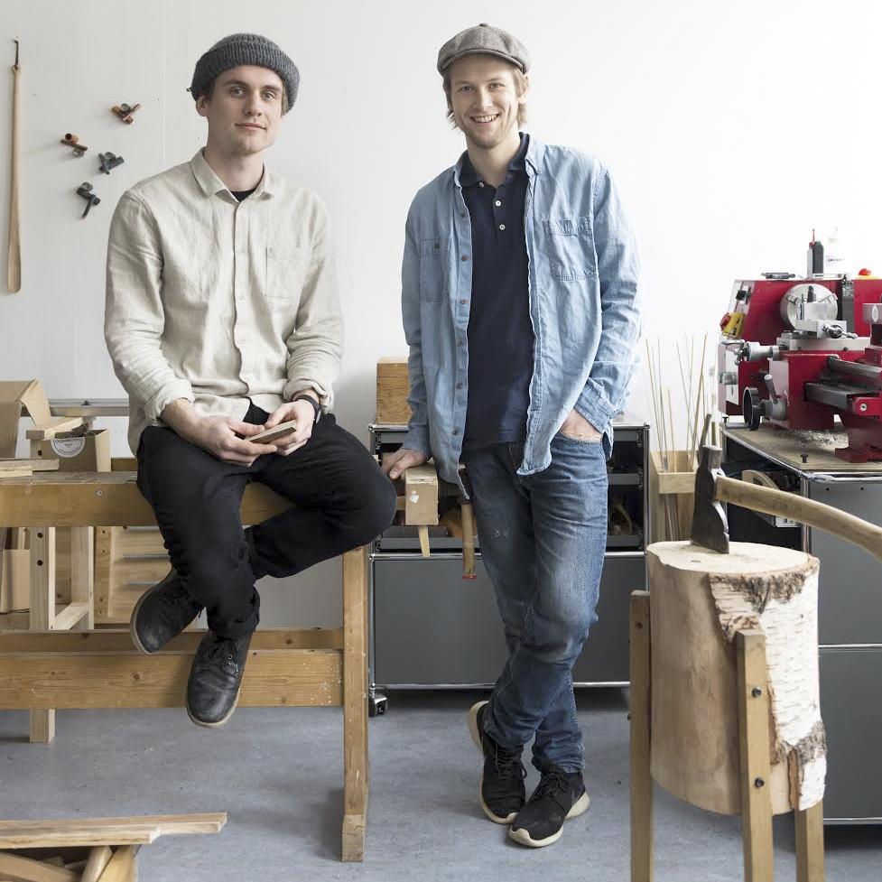 Stian Korntved Ruud & Jørgen Platou Willumsen in their studio at Carl Berner in Oslo.