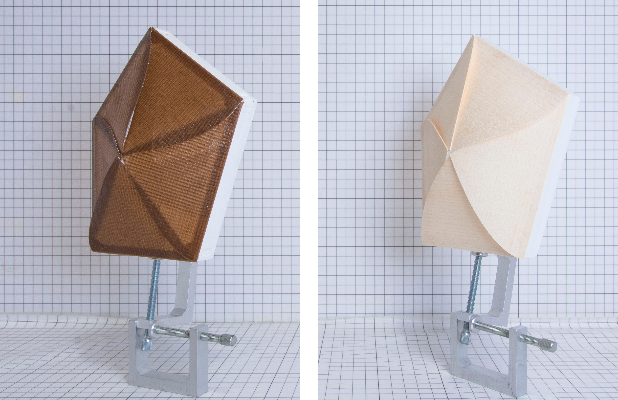 HygroSkin: Meteorosensitive Pavilion An example of climate-responsive architecture. An architectural skin that responds to its environment without relying on elaborate technical equipment.  Instead it uses the reactivity of wood to the moisture content in the air as in nature you see in spruce cones. (by David Correa and Prof. Achim Menges, University of Stuttgart)