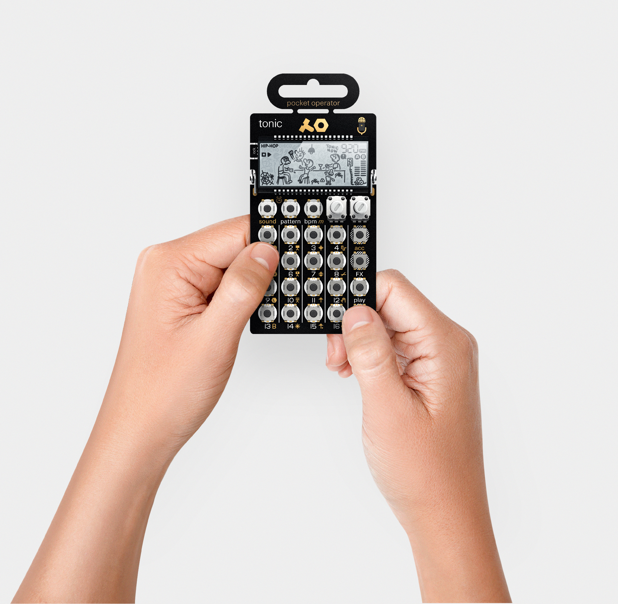 PO-32, the latest addition to the Pocket Operator synthesizer series. Photo: Teenage Engineering.