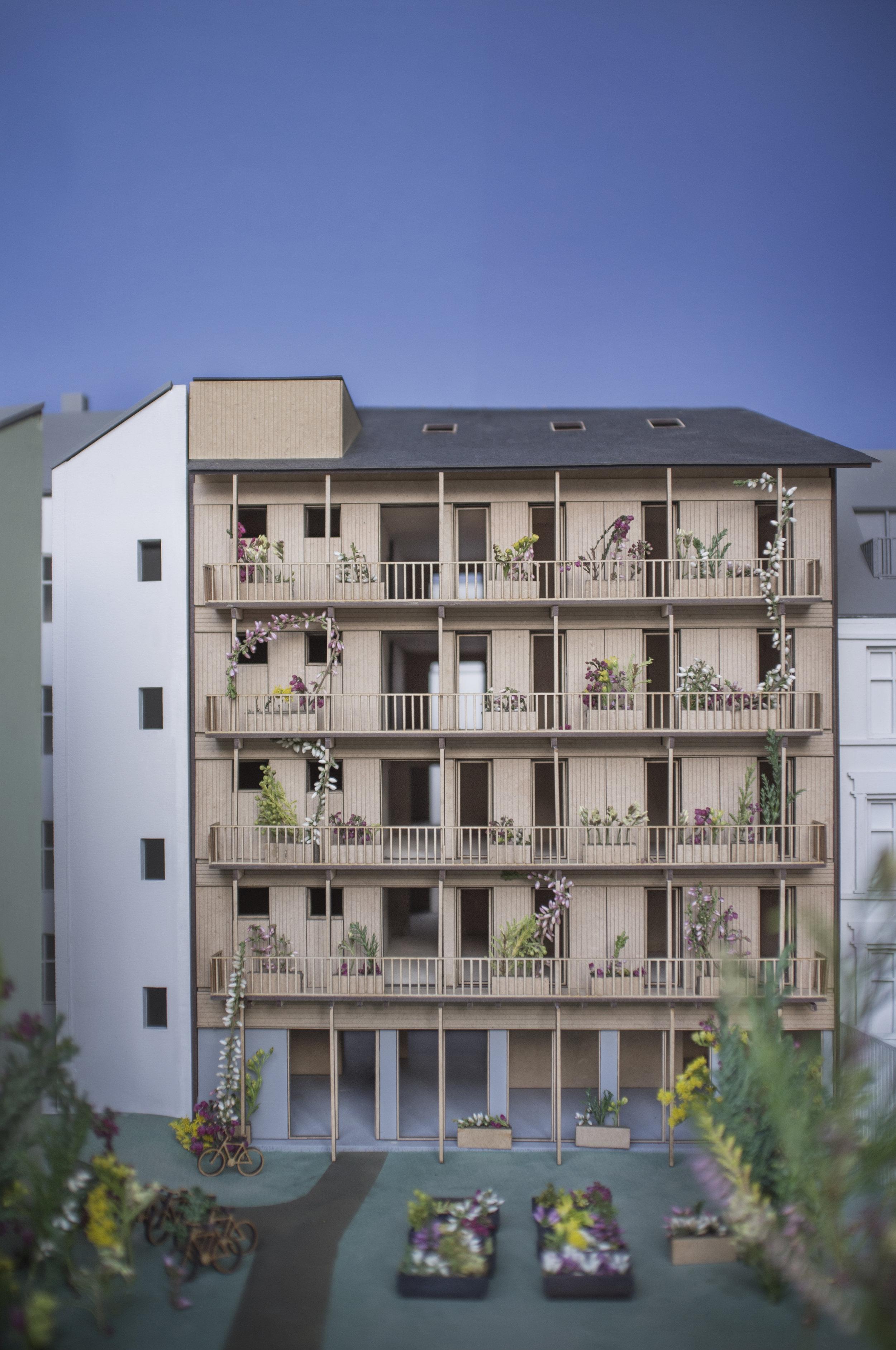 Model of Hauskvartalet - Foto Eriksen Skajaa