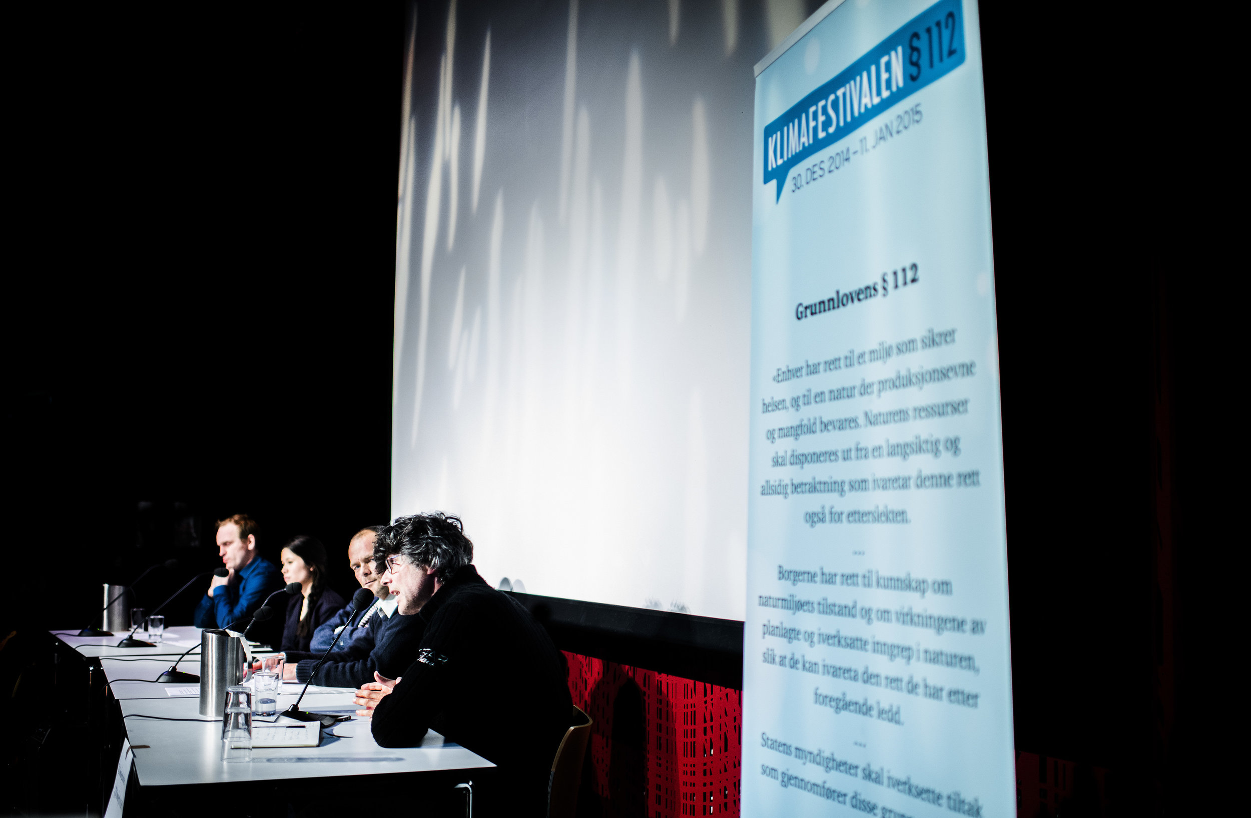 Panel discussion from the festival in 2014. Photo: Andreas Winter
