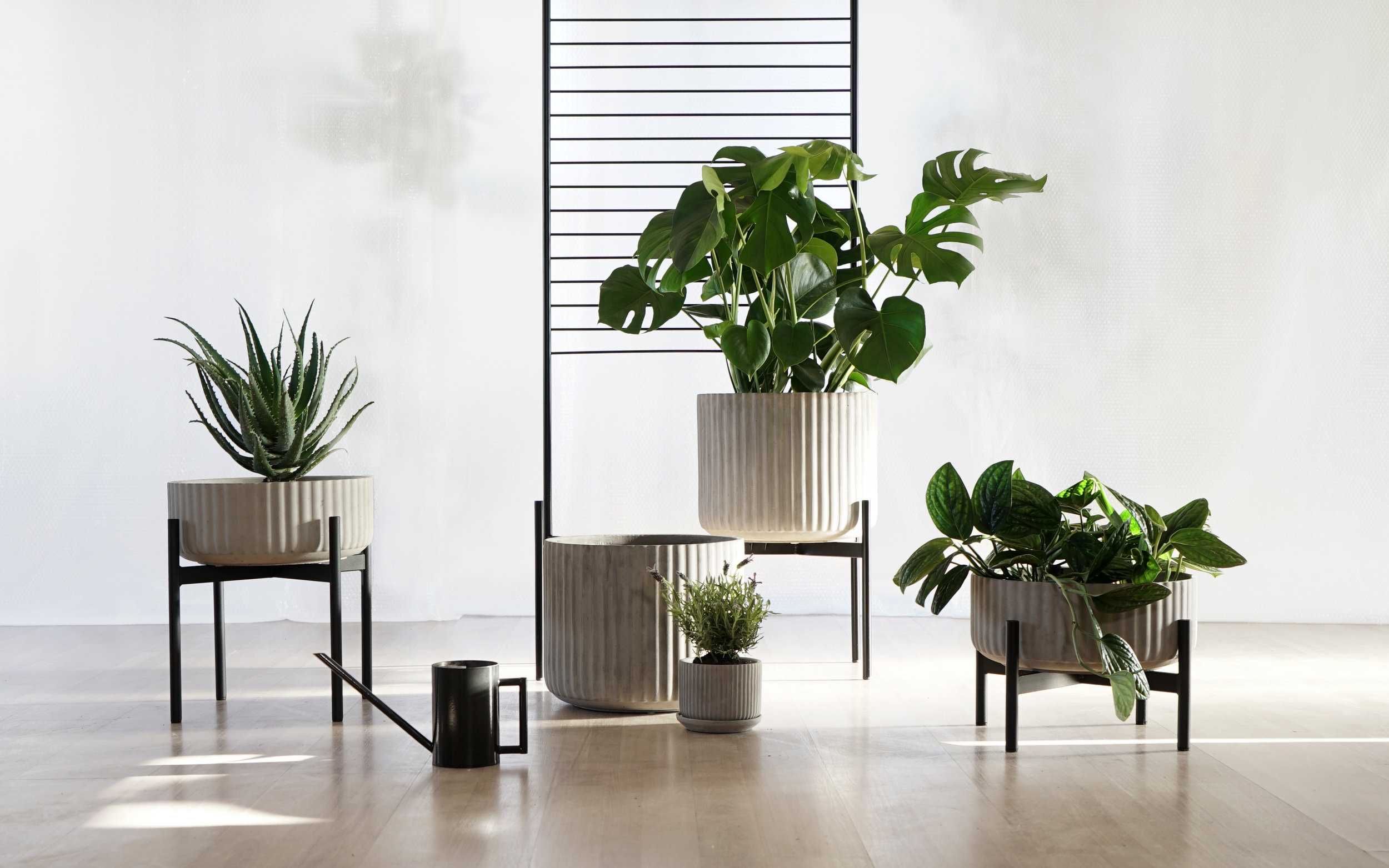 UT #67/256 Klorofyll Planter System by Anderssen & Voll   The Elementa UT project, introduced in 2018 is an ongoing inquiry into the question of how we can use design and art to enter into a more sensible and meaningful conversation with nature. The Klorofyll Planter System by Andersen & Voll is a comprehensive series of planters of different sizes and materials , developed to explore interior landscaping.
