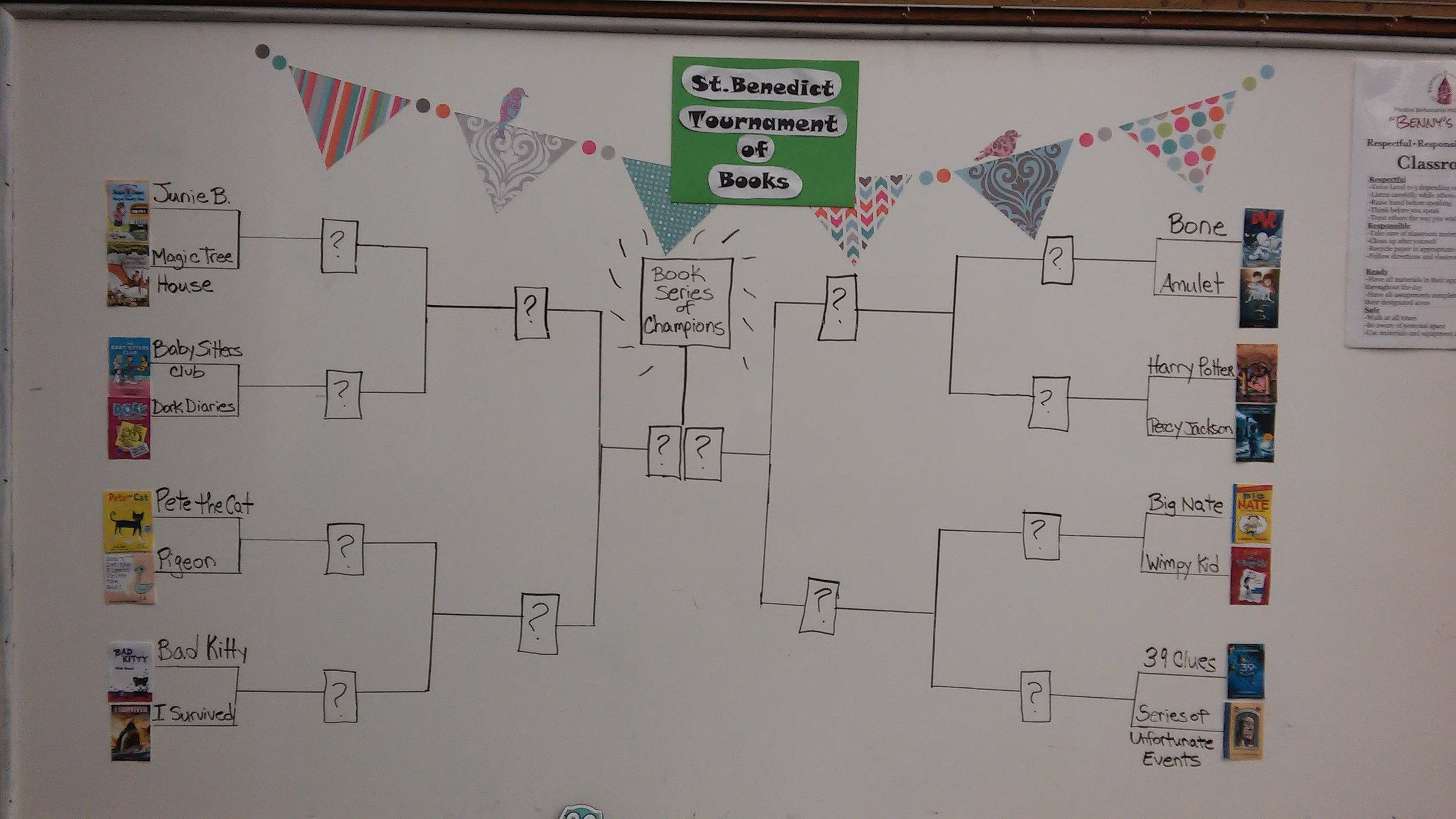 March Madness in the Elementary Library!