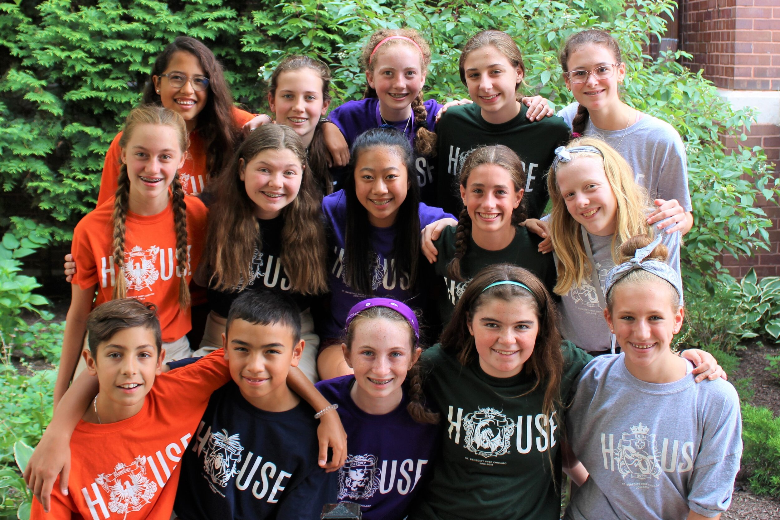 7th & 8th graders provide the house leadership team