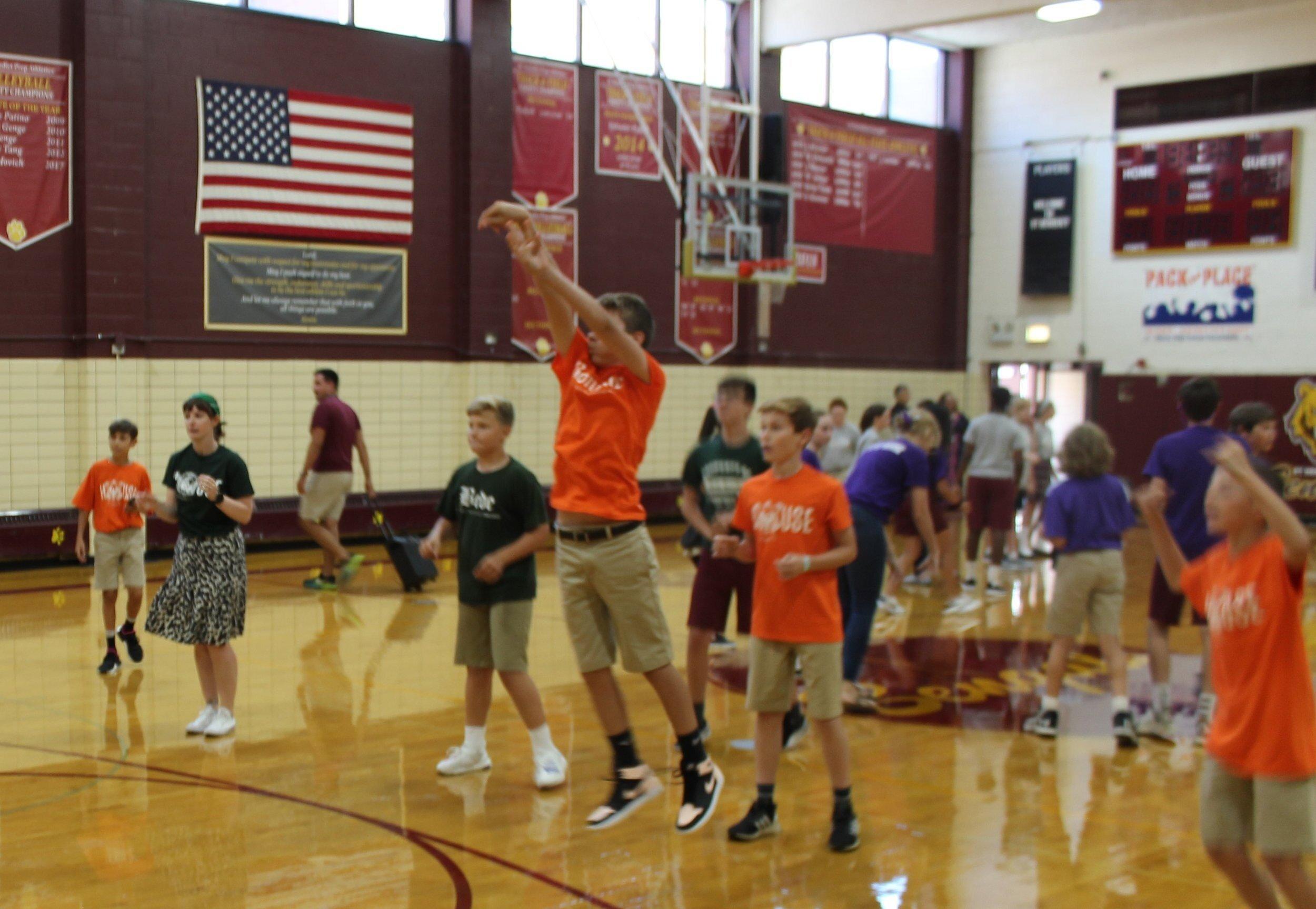 house pep rally Basketball competition