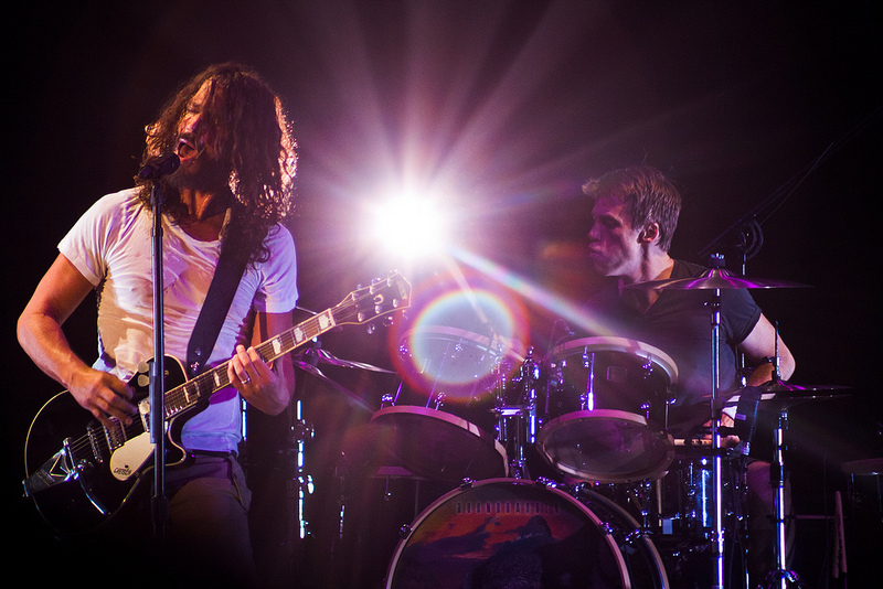 Chris Cornell and Matt Cameron of Soundgarden perform at the Gorge in George, WA in 2011.