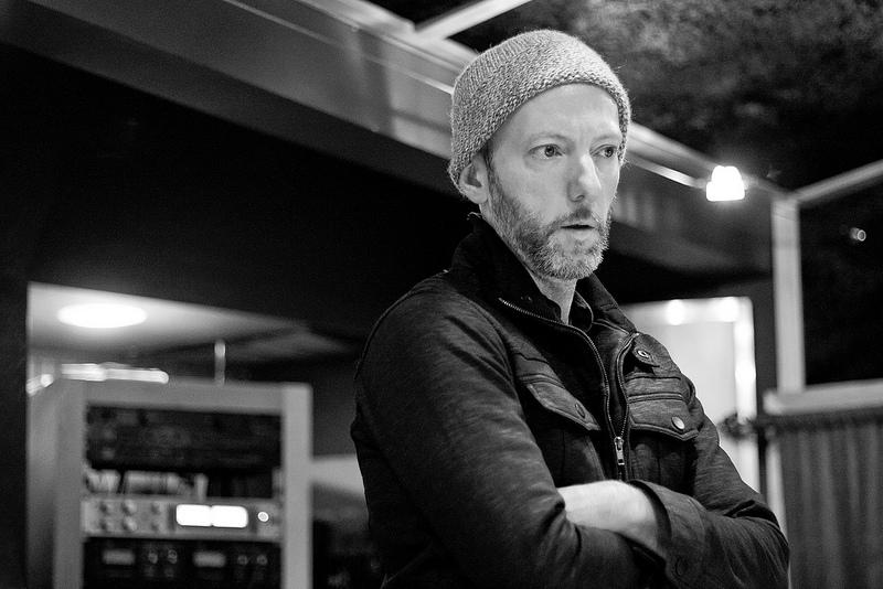 Davis Martin listening to a mix at London Bridge Studio.