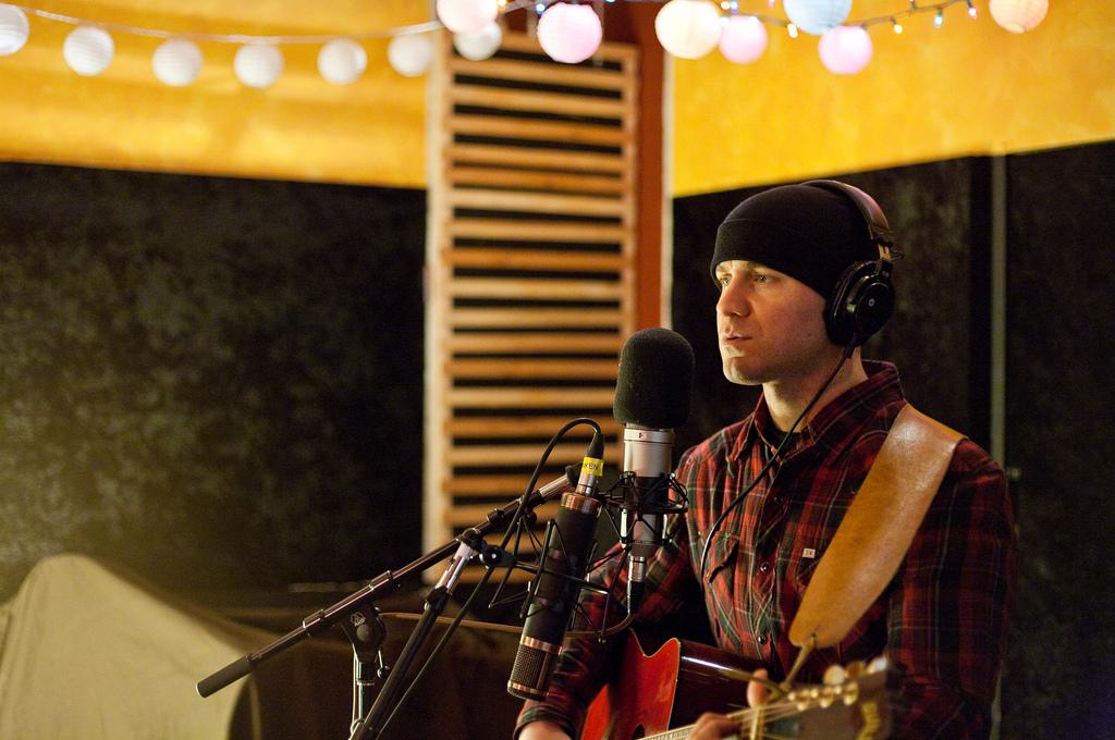 Angelo Delsenno recording at London Bridge Studio.