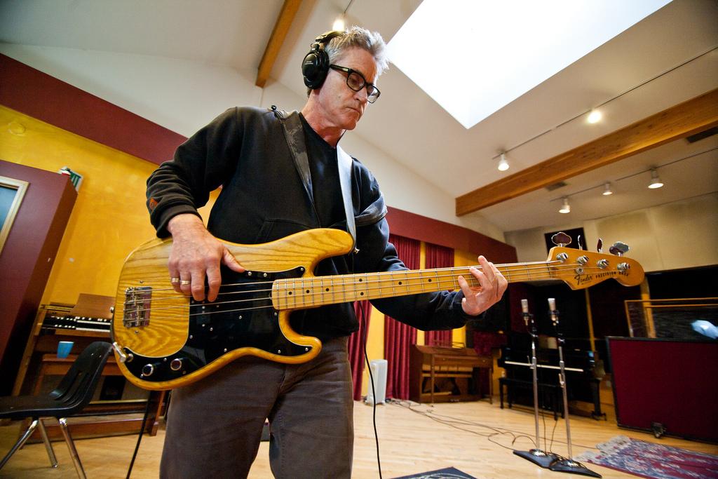 Tom Melancon recording atLondon Bridge Studio.