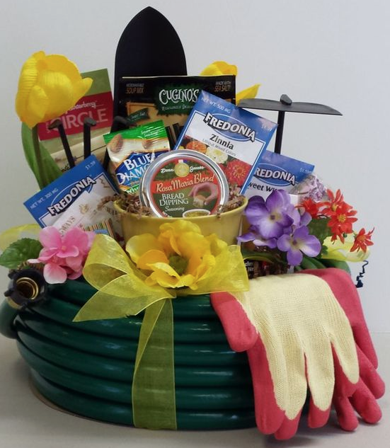 An example of a creative presentation for a raffle basket.