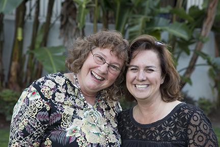 PR expert, Nancy Black (left)